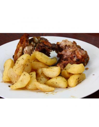 Alitas de pollo con patatas