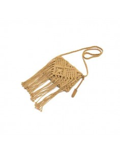 Bolso Crochet Camel