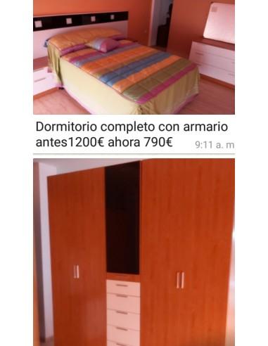 DORMITORIO COMPLETO CON ARMARIO....