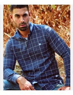 Camisas urban Button cuadros