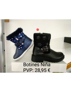 Botines Niña color negro