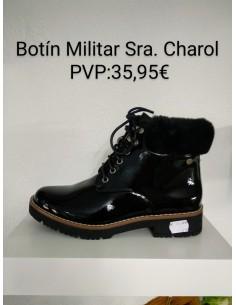 Botín Militar Señora Charol
