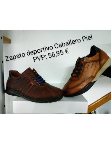 Zapato deportivo caballero piel